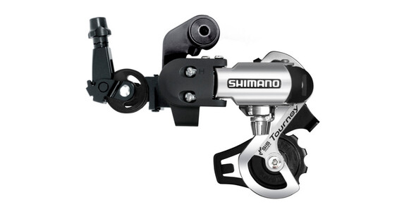 Shimano Tourney RD-FT55 gear med adapter sort/sølv